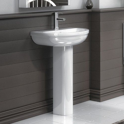 Harmony 500mm Basin & Full Pedestal - 1 Tap Hole